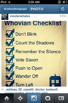 Whovian Checklist
