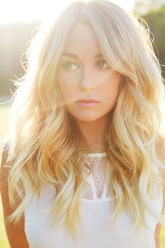 beach waves blonde summer hair lauren conrad