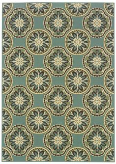 "Tava Seafoam Medallion 3'7""x5'6"" Area Rug 