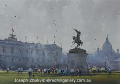 """Joseph Zbukvic, Red Hill Gallery, Brisbane. Watercolour painting """"Sunday in the Park, Vienna"""". redhillgallery.com.au Art Gallery, Artist Painting, Joseph Zbukvic, Joseph, Modern Watercolor Paintings, Painting, Beautiful Paintings, Art, Watercolour Inspiration"""