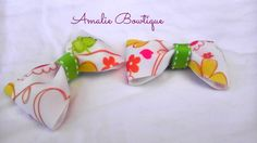 2 Frog Hair Bows Green Summer Hair Bow Small by AmalieBowtique, $6.00