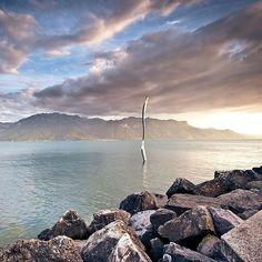 The Fork / La Fourchette - Vevey (c) GrégoireChappuis_gc-photo. Vevey, Lausanne, Nature Adventure, Serenity, Beautiful Places, Images, Fork, Landscape, Beach