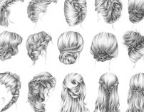 Awesome drawings of hair styles with the name of the style