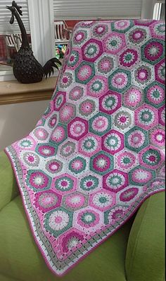Ravelry: lily01's Summery Hexi Throw