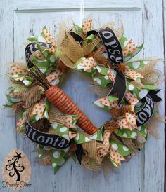RAZ Rustic Carrot - DIY Easter Wreath Tutorial at Trendy Tree
