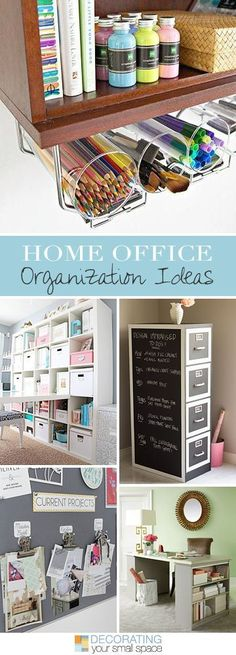Home Office Organization Ideas • Lots of Ideas and Tutorials!