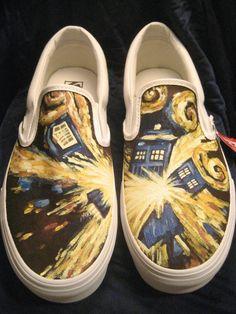 bambas customizadas. Doctor Who & Van Gogh :)