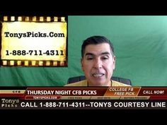 Thursday College Football Picks Predictions Point Spread Odds Betting Pr...