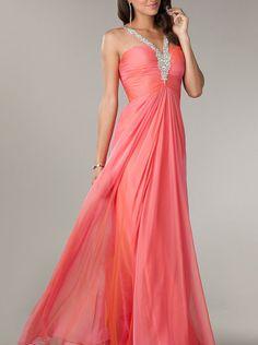 A-line Halter Top Chiffon Long Prom Dress /Formal Dress/Evening dress CD-0704