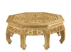M-1340-301-TEA Gabrielle Carved Coffee Table available at French Heritage