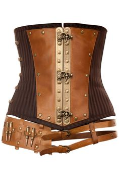 Steampunk Corset:Steampunk Inspired Leather Corset