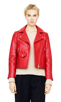 Libby Leather Moto Jacket