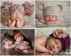 Knitted hats for newborn baby