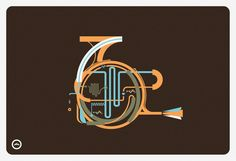I know I shouldn't put this under Typo, but it seems just like typography!     French Horn by Leandro Castelao