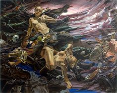 A New Era is Coming    2006  64 x 80 inches (162.5 x 203.2 cm)  Oil on linen  Private collection - Brescia, Italy