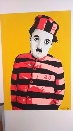 "Charlie Chaplin by ~vosvoskedi Charlie Chaplin as Convict 23 in The Adventurer he also played Convict 23 in ""The Pilgrim"" Vintage Comics, Caricature, Illustration Art, Poster Art, Art, Art Essentials, Mid Century Art, Pop Art, Charlie Chaplin"