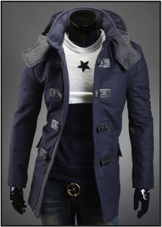 Men's Hooded Mid Length Coat
