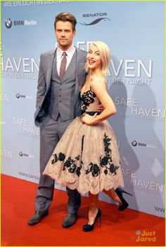 Julianne Hough & Josh Duhamel: 'Safe Haven' Berlin Premiere: Photo Julianne Hough poses with her co-star Josh Duhamel at the premiere of their film Safe Haven on Sunday (February in Berlin, Germany. Julianne, and Josh,… Julianne Hough Hot, Celebrity Gossip, Celebrity Style, Nicholas Sparks Movies, Berlin, Hollywood Red Carpet, Hollywood Gossip, Bmw, Josh Duhamel