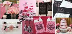 Black and pink decoration for your wedding in France ! | Weddings on the French Riviera