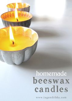 how to make natural beeswax candles