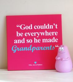 Personalized Grandmother / grandfather sayings on luxury canvas print.