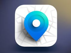 GPS Ios Icon Design designed by Igor Radivojevic. Web Design, App Icon Design, Logo Design, Site Design, Flat Design, Mobile Marketing, Marketing Digital, Launcher Icon, Mobile App Icon