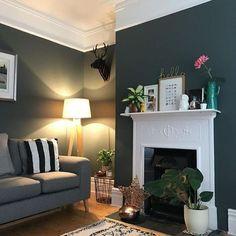 922e462c9e793a Bleu et beige  ambiances variées. en 2019   Déco Salon   Living room ...