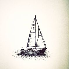 Teeny tiny #skech of my cousins #sailboat in wich he spent the last year sailing over the #Atlantic  #crazytrip #drawing #sail #art #travel #blackandwhite #blackwork #todrawtheworld