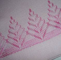 Vintage Pink Fingertip Towel  Swedish Weaving by AuntPhebasVintage, $8.00