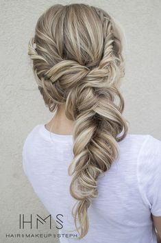 loose braided sideswept wedding updo ~ we ? this! moncheribridals.com #bridalbraids