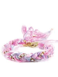 Would make an adorable friendship bracelet!   Ettika Jewelry Silk  Crystal Friendship Bracelet
