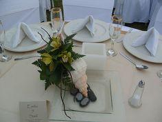 Centro de mesa ideal para tu boda en playa por Bodas Huatulco
