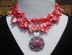 Statement Necklace  Pearl cultured freshwater by CopperTowneGems