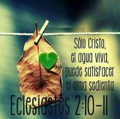 Sólo Cristo, el agua viva, puede satisfacer el alma sedienta. Ec 2.10-11