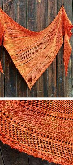 Ravelry: Ardent shawl in Malabrigo Yarn Sock. Knitting pattern from Woolenberry.