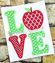 Love Apple Applique - 4 Sizes! | What's New | Machine Embroidery Designs | SWAKembroidery.com Creative Appliques