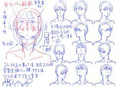 個人的男性首、肩の描き方。 [6]