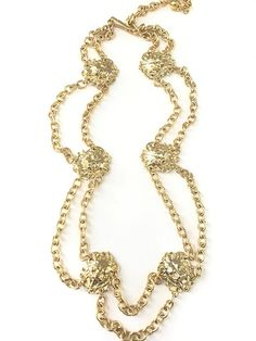 Vintage Gold Plated Lion Necklace Belt Lion Necklace, Gold Necklace, Color Shades, At Least, Gold Plating, Chain, Minimal, Boxes, Vintage