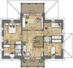 RAUHALA 188 - Kannustalo Floor Plans, Flooring, Architecture, Instagram, Home Decor, Sims, Houses, Random, Arquitetura