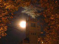 Harvest moon in Asheville NC
