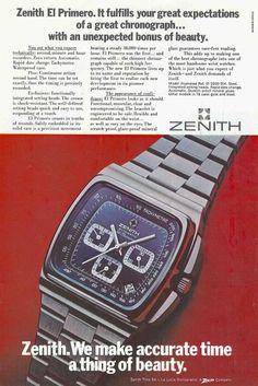 """Zenith El Primero """"Big blue"""" advertising"""