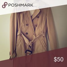 Classic trenchcoat- %cotton Timeless style and color. It is in pristine condition. Very high quality product purchased from Europe Jackets & Coats Trench Coats