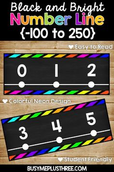 This NEON CHALKBOARD NUMBER LINE ON BLACK will make your classroom decor, bulletin boards, and white boards pop with some color. This number line is easy to read and bright. It's easy for students to use during math lessons or at math stations. Neon Classroom Decor, Classroom Themes, Classroom Organization, Music Classroom, Classroom Resources, School Classroom, Classroom Management, Seventh Grade Math, First Grade Math