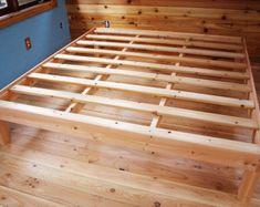 Custom king size solid fir platform bed frame