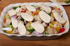 Mieks Special: ovenschotel kip pesto - Keuken♥Liefde Nachos, Artichoke, Cobb Salad, Potato Salad, Spaghetti, Food And Drink, Keto, Favorite Recipes, Lunch