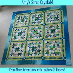 Amy sent along a photo of her completed Scrap Crystals top from my book More Adventures with Leaders & Enders! She cruised to Alaska with me and this was our cruise project! Great job, Amy! Signed books can be found on my website http://quiltville.com #quilt #quilting #patchwork #quiltville #bonniekhunter #leadersandenders