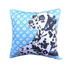 Dalmatian Dog Cushion / pillow cover 43cm x 43cm by saranorwood