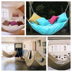 Awesome: Beanbag+hammock= beanock, my balcony is calling for one!!!