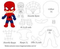 Molde Personagem - Homem Aranha - Molde para EVA - Feltro, Molde Personagem - Homem Aranha - Molde para EVA - Feltro e Artesanato