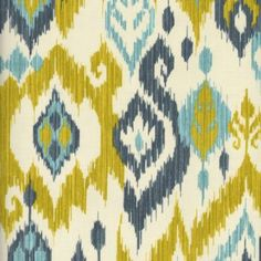 FABRIC, Sandy Point, Green Blue